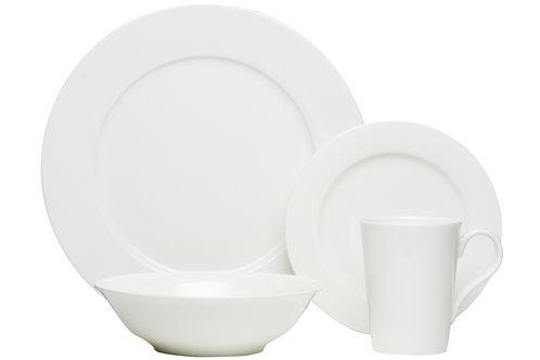 Pure Vanilla 16Pc Rimmed Dinner Set 4