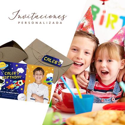 12 Tarjetas invitación Cumpleaños