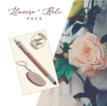 Pack Llavero+Boli Boda