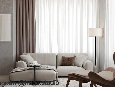 Тренды-2022: шторы в гостиную