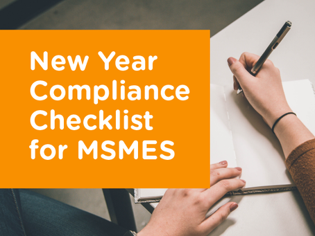 New Year Compliance Checklist for Micro, Small, and Medium Enterprises