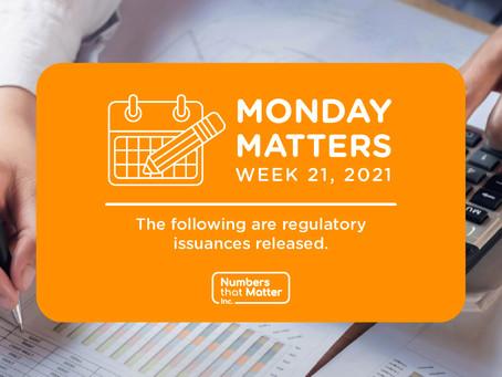 Regulatory Update No. 21