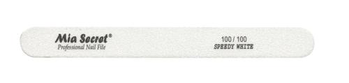 WF760-100-100- SPEEDY WHITE STRAIGHT NAIL FILE #100
