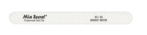 WF760-80-80- SPEEDY WHITE STRAIGHT NAIL FILE #80