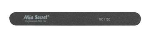 B09-S-100-100- BLACK STRAIGHT NAIL FILE #100