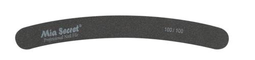 B07-C-100-100- BLACK CURVE NAIL FILE #100