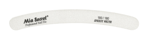 WF750-180-180- SPEEDY WHITE CURVE NAIL FILE #180