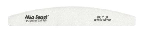 WF740-100-100- SPEEDY WHITE HALFMOON NAIL FILE #100