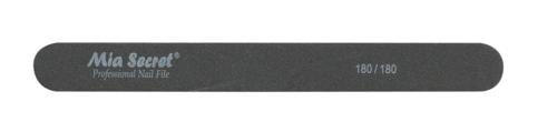 B09-S-180-180- BLACK STRAIGHT NAIL FILE #180