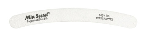 WF750-100-100- SPEEDY WHITE CURVE NAIL FILE #100