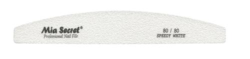 WF740-80-80- SPEEDY WHITE HALFMOON NAIL FILE #80