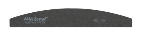 B10-H-100-100- BLACK HALFMOON NAIL FILE #100