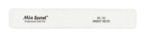 WF720-80-80- SPEEDY WHITE HALFMOON NAIL FILE #80