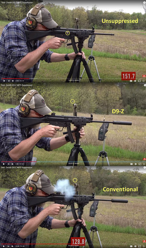 Does the D9 reduce blowback?