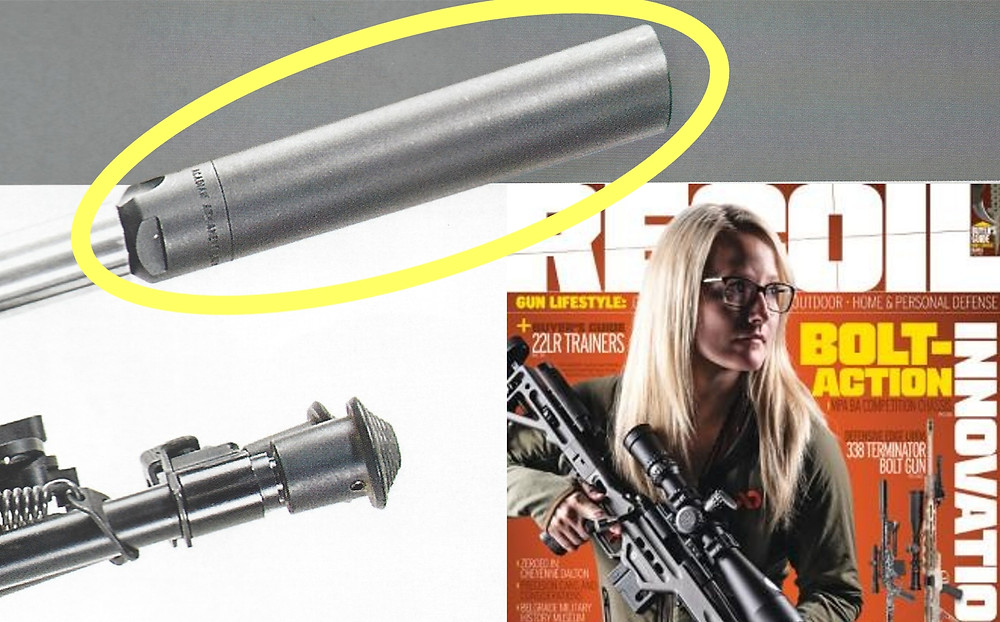 Recoil Magazine Cover. Candice Horner and Lynx on Masterpiece Arms 22 Nosler