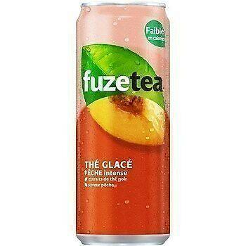 Fuze tea Pêche - Slim Boîte - 24 x 33 cl