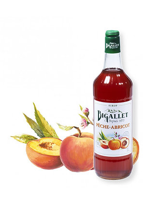 Bigallet - Sirop Pêche Abricot - 1L