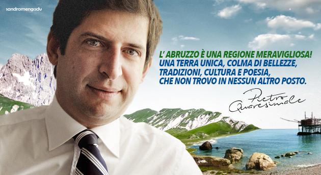 Pietro Quaresimale sceglie Sandromengadv per le prossime Regionali in Abruzzo.