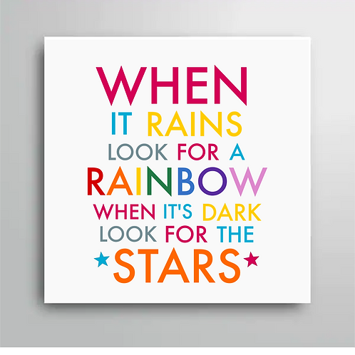 When It Rains Look For A Rainbow Card