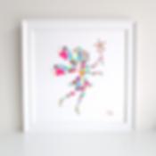 Fairy Decoupage Art Print