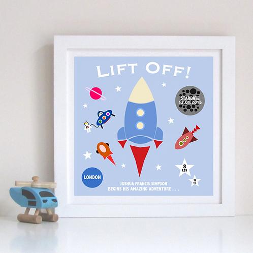 Lift Off Birth Print!