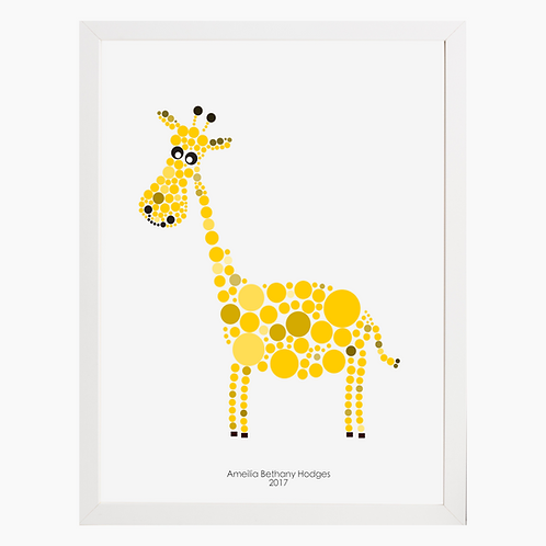 Giraffe Nursery Art Print