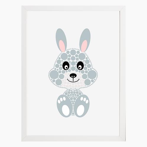 Bunny Rabbit Nursery Art Print