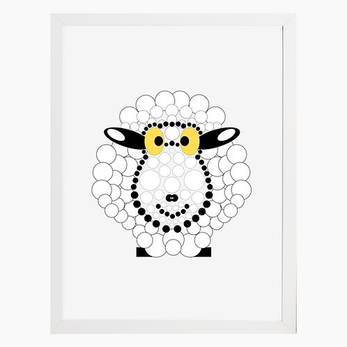 Sheep Nursery Art Print