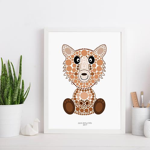 Brown Bear Nursery Art Print
