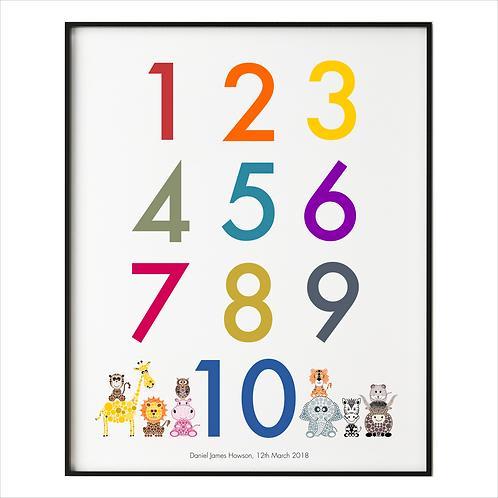 Personalised Numbers Print