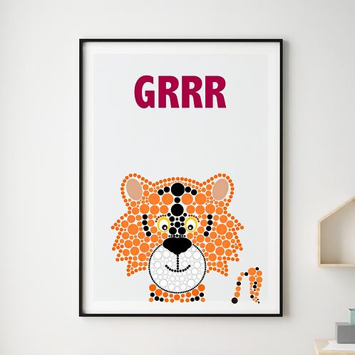Grrr Tiger Print