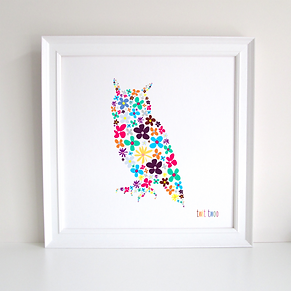 Owl Decoupage Art Print
