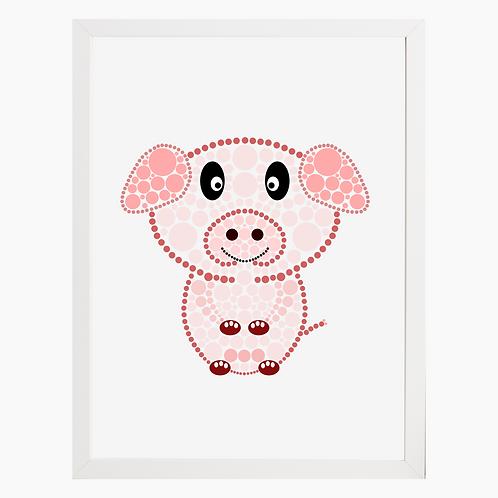 Pig Nursery Art Print