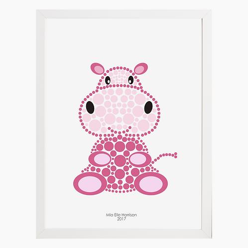 Hippo Nursery Art Print