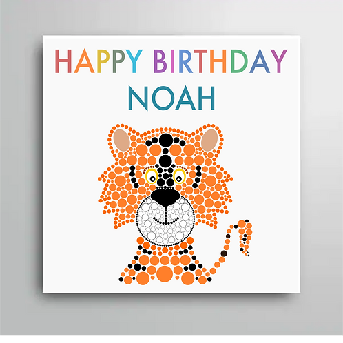 Personalised Happy Birthday Tiger Card