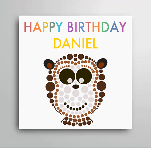 Personalised Happy Birthday Monkey Card