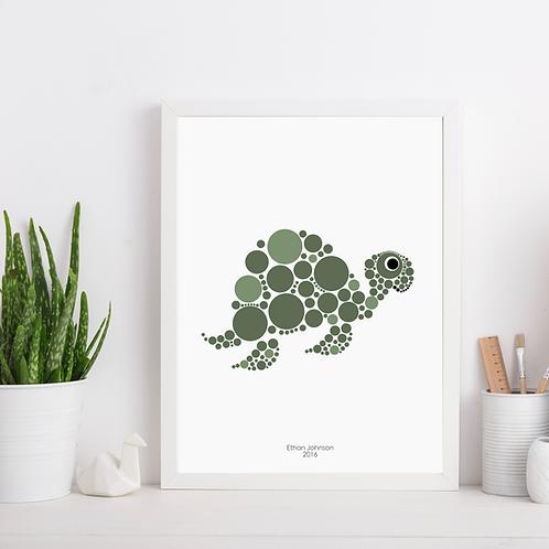Turtle Nursery Art Print