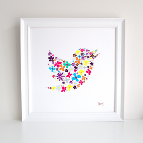 Tweet Decoupage Art Print