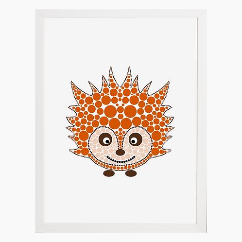 Hedgehog Nursery Art Print