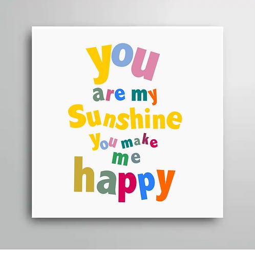 YOU ARE MU SUNSHINE FRIDGE MAGNET STYLE