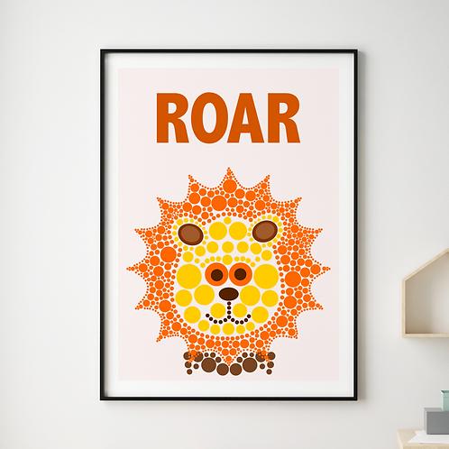 Roar Lion Print