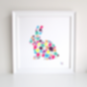 Bunny Rabbit Decoupage Art Print