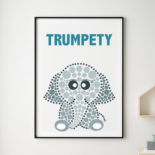 Trumpety Elephant Print