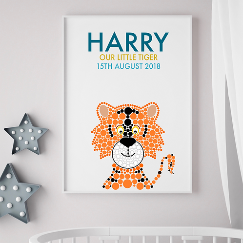 Personalised Tiger Birth Print