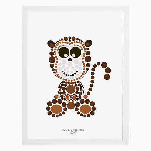 Monkey Nursery Art Print