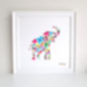 Elephant Decoupage Art Print