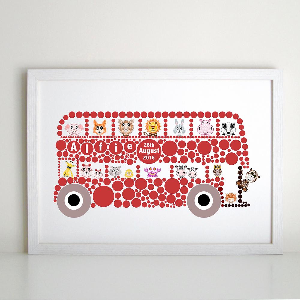 Personalised British Bus