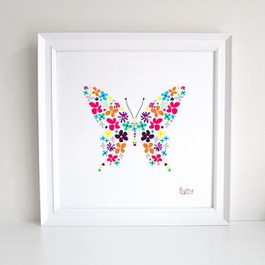 Butterfly Decoupage Art Print