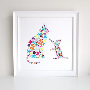 Ballerina Decoupage Art Print