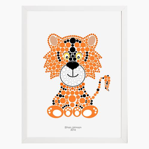 Tiger Nursery Art Print
